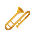 trombone wind musical instrument isolated icon vector image