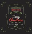 Vintage Retro Merry Christmas Greetings Badge on vector image