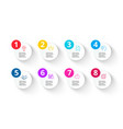 white and multicolored circles for vector image vector image
