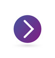 white right rounded arrow in purple gradient
