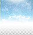winter sky with falling snow and santa claus vector image vector image