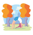 woman practice yoga pose exercise vector image
