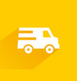 yellow icon free quick delivery with long shadows vector image