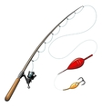 fishing rods vector image