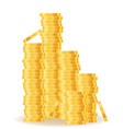 gold coins stock vector image