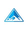 mountain adventure vector image