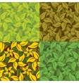 Abstract set of leaf patterns vector image vector image