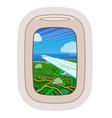 airplane window traveling plane vector image