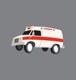 ambulance car in flat design vector image