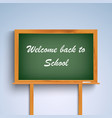 Back to school on green board template vector image vector image