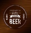 Beer coaster vector image vector image