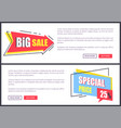 big sale and special price vector image