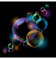 Black bubble background vector image vector image