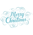 Blue lettering Merry Christmas for greeting card vector image vector image