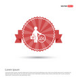 business man and progress icon - red ribbon banner vector image