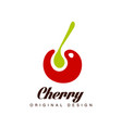 cherry original design creative logo template can vector image