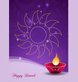 diwali greeting card vector image vector image
