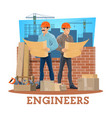 engineer and architect construction industry vector image