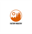 factory industry logo vector image