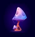 fantasy mushroom alien or magic unusual plant vector image vector image