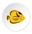 Fish yellow tang icon flat style vector image