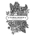 floral bouquet design with black and white peony vector image