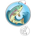 fly fishing vector image vector image