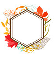 frame with falling leaves vector image vector image