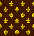 golden fleur de lis seamless pattern vector image