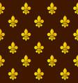 golden fleur de lis seamless pattern vector image vector image