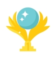 Golden wings award vector image vector image