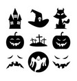 halloween black fun silhouette icon symbol design vector image