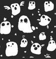 halloween ghosts pattern vector image