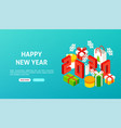happy new year 2020 banner vector image vector image