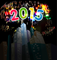 happy new year with fireworks vector image vector image