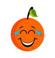 happy orange emoticon vector image