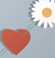 Heart and flower by St Valentines Day vector image