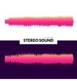 HQ sound waves Music waveform pink vector image vector image