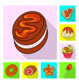 isolated object of confectionery and culinary logo vector image