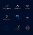 jewellery company logos set vector image