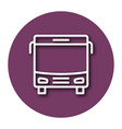 line icon of bus with shadow eps 10 vector image vector image