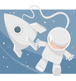 little spaceman cartoon vector image vector image