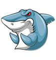 mascot fish an shark vector image vector image