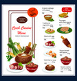 menu for czech cuisine dishes vector image vector image