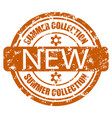 new summer collection seal stamp for promotion vector image vector image