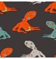 Nice octopus pattern vector image vector image