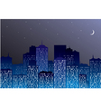 night city silhouette vector image