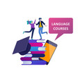 online language courses distance education vector image