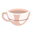 porcelain coffee mug cartoon vector image