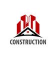 real estate home roof logo concept design symbol vector image vector image